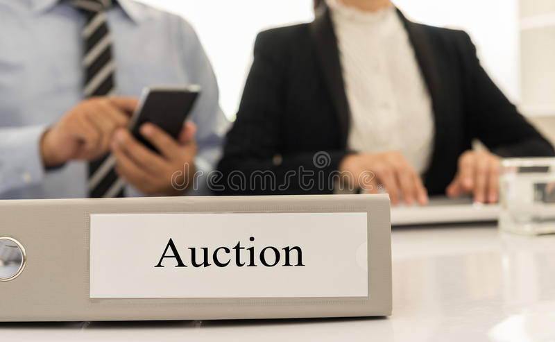 auction stock photo