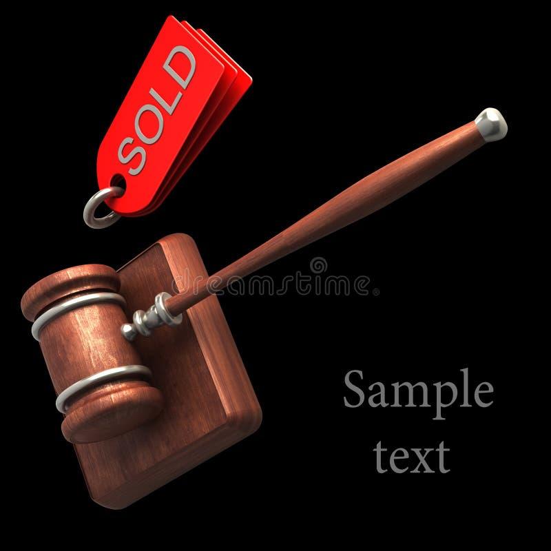 Download Auction Gavel Isolated On Black Stock Illustration - Illustration: 24128469