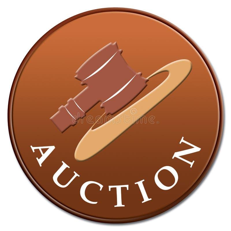 Auction icon stock illustration