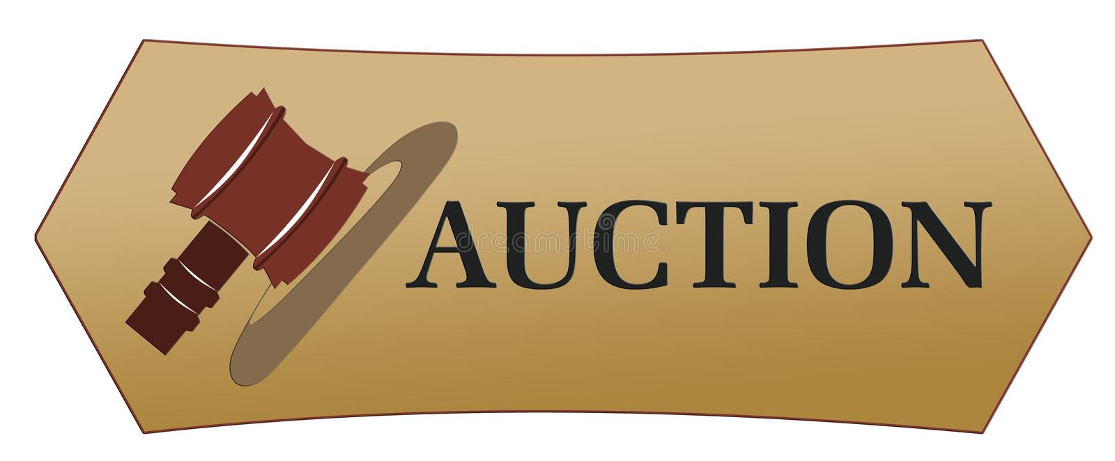 Auction icons stock photos
