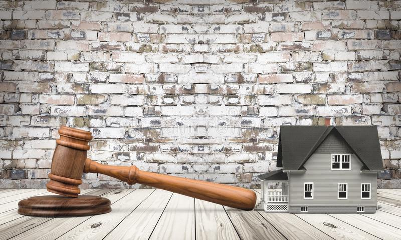 Auction. Law House Residential Structure Legal System Real Estate Gavel royalty free stock photography