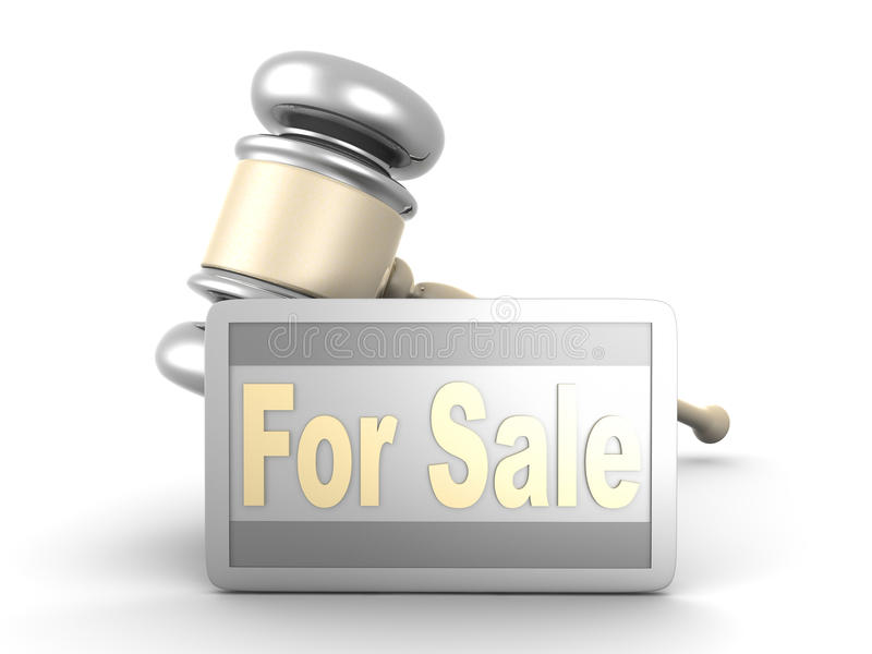 Download Auction sale stock illustration. Image of consume, court - 24842663