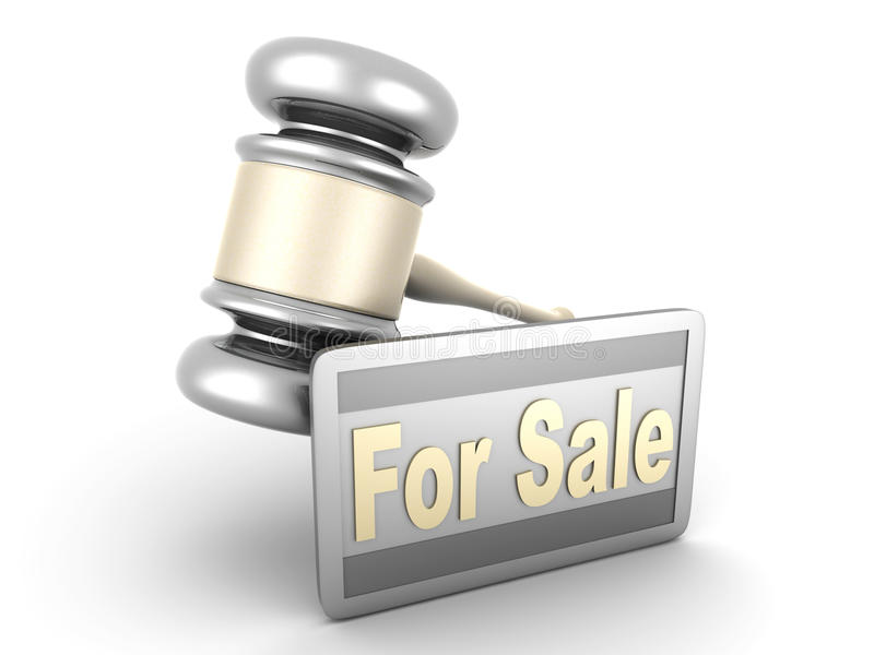 Download Auction sale stock illustration. Illustration of justice - 24842669