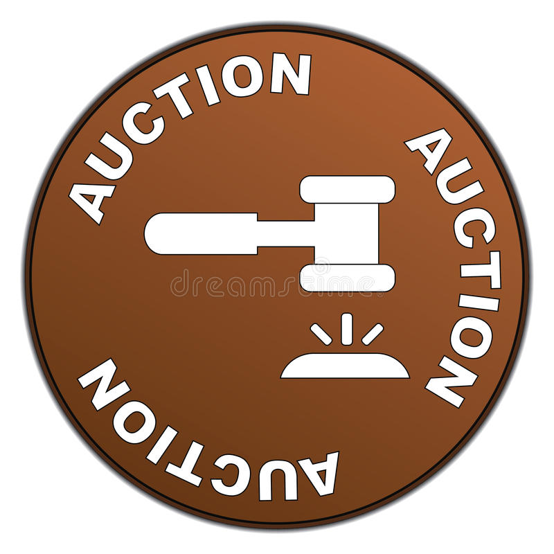 Auction sign vector illustration