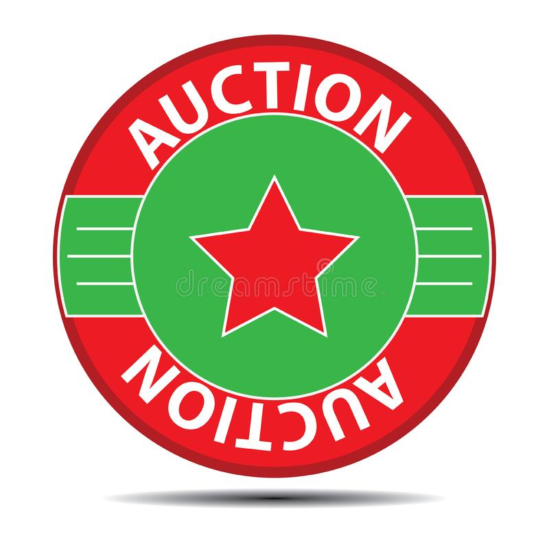 Auction symbol vector illustration