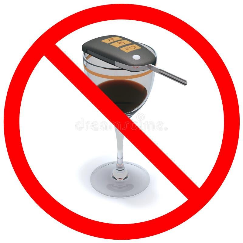 Aucun alcool illustration de vecteur