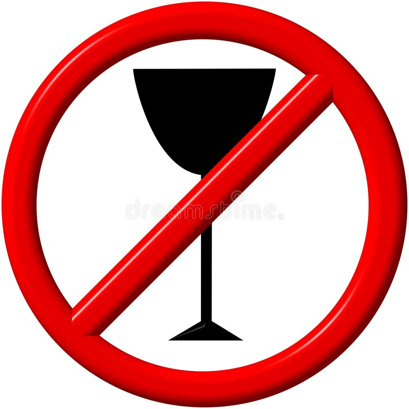 Aucun alcool illustration stock