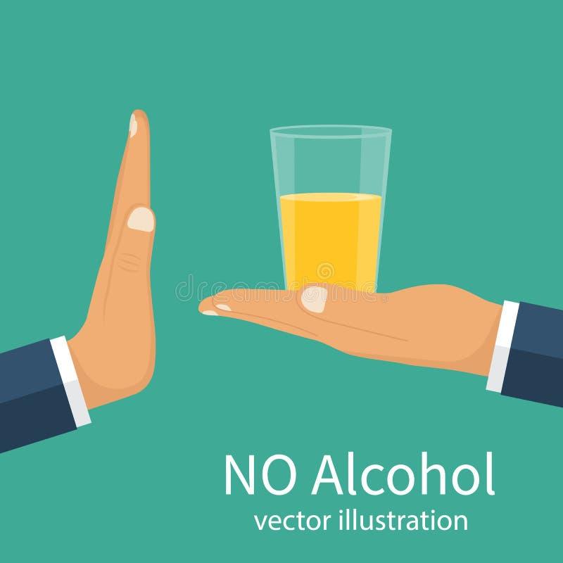 Aucun alcool Vecteur illustration stock