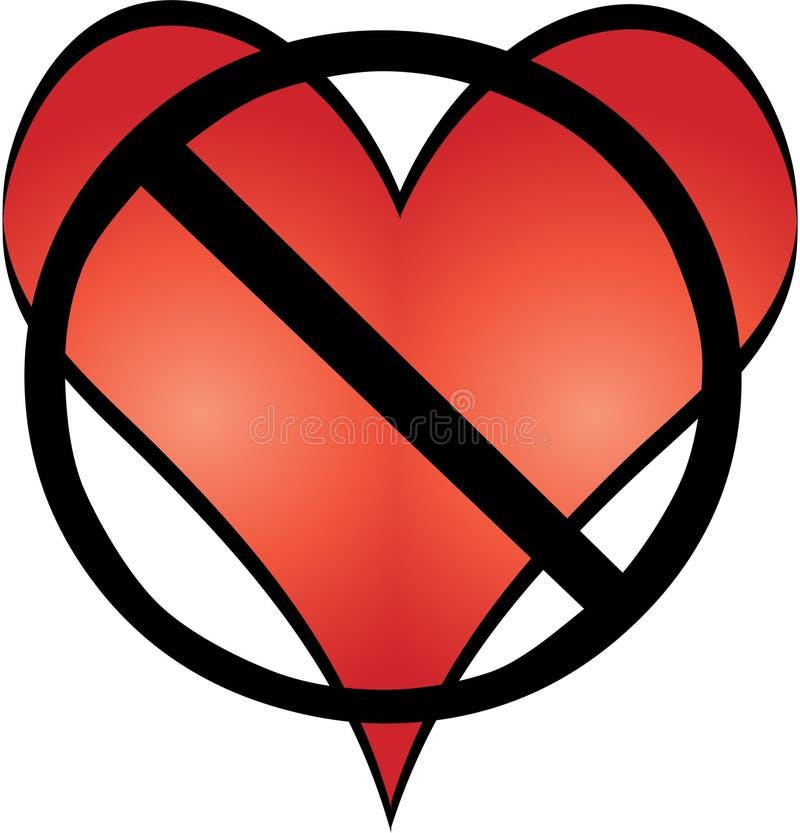 Aucun amour illustration de vecteur