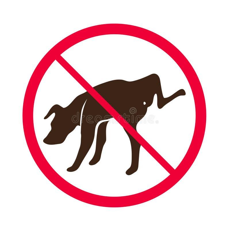 Aucun chien faisant pipi -- Vecteur - aucun logo de signe de pipi de chien illustration libre de droits