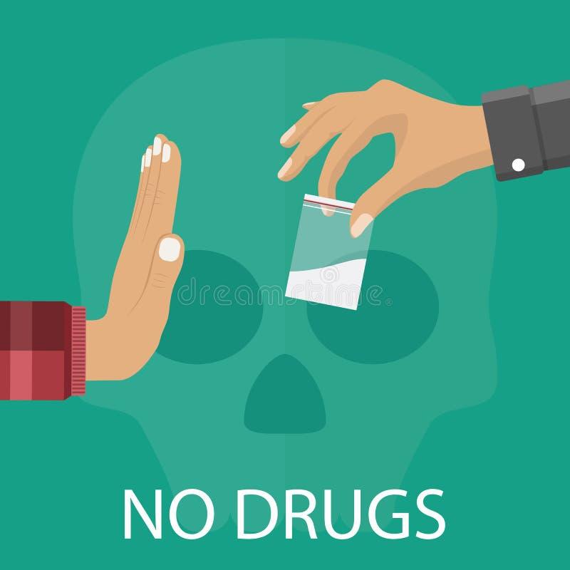 Aucun concept de drogues illustration de vecteur