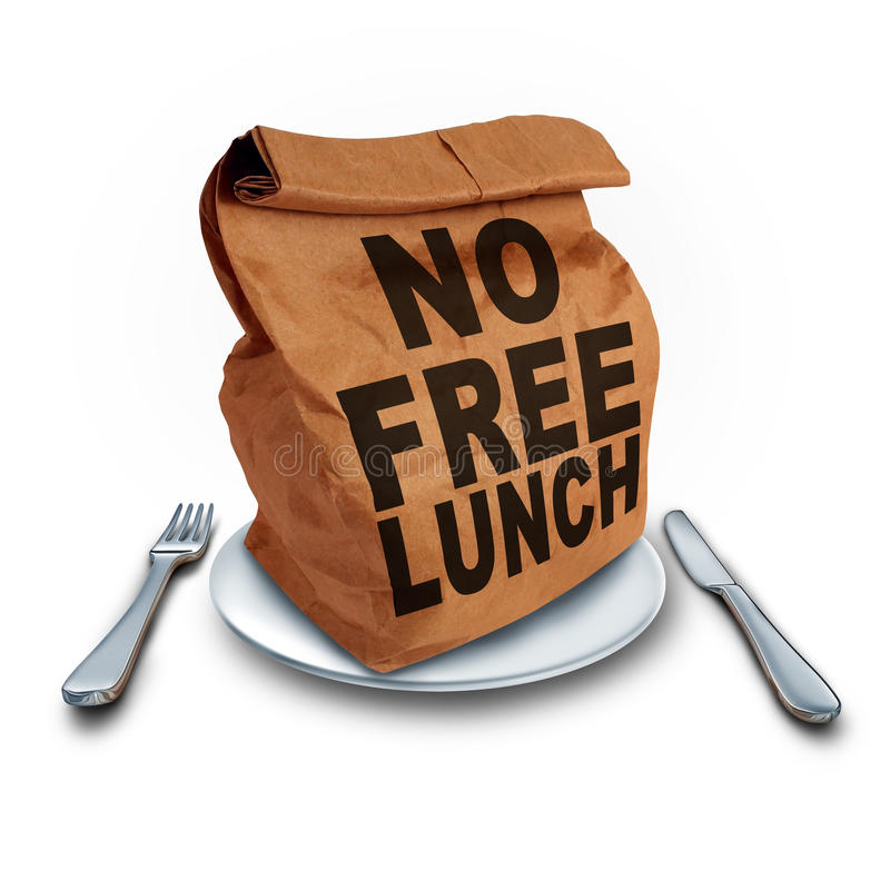 Aucun déjeuner libre illustration stock