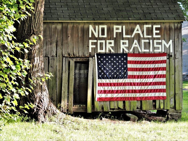 Aucun endroit pour le racisme en Amérique image stock