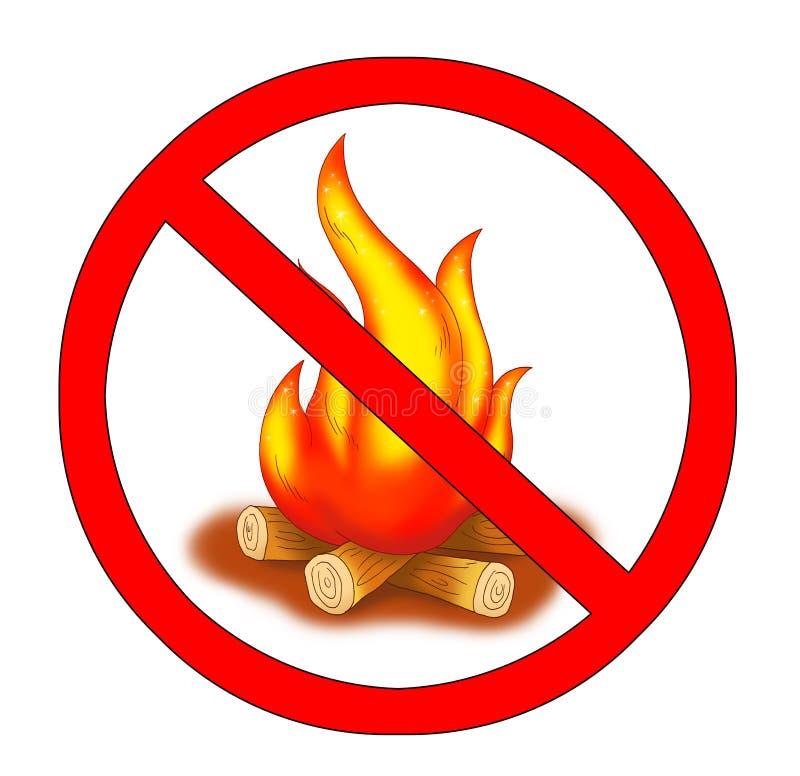 Aucun incendie illustration stock