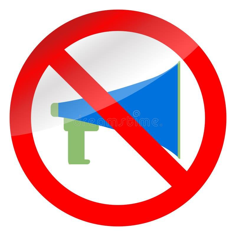 Aucun mégaphone de propagande et d'interdiction illustration libre de droits