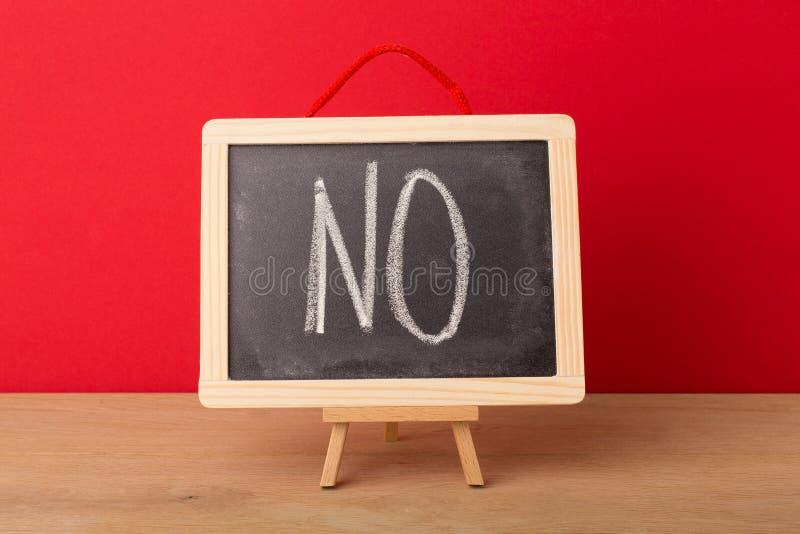 Aucun mot écrit sur le tableau noir d'école photographie stock libre de droits