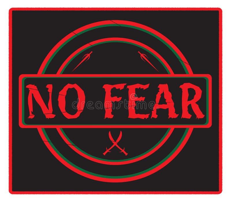 Aucun noir de timbre de crainte illustration de vecteur