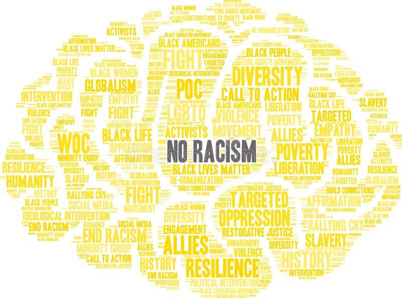 Aucun nuage de Word de racisme illustration de vecteur