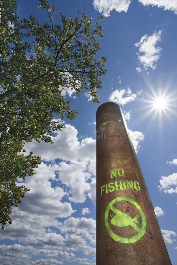 Aucun pôle de pêche. photo libre de droits