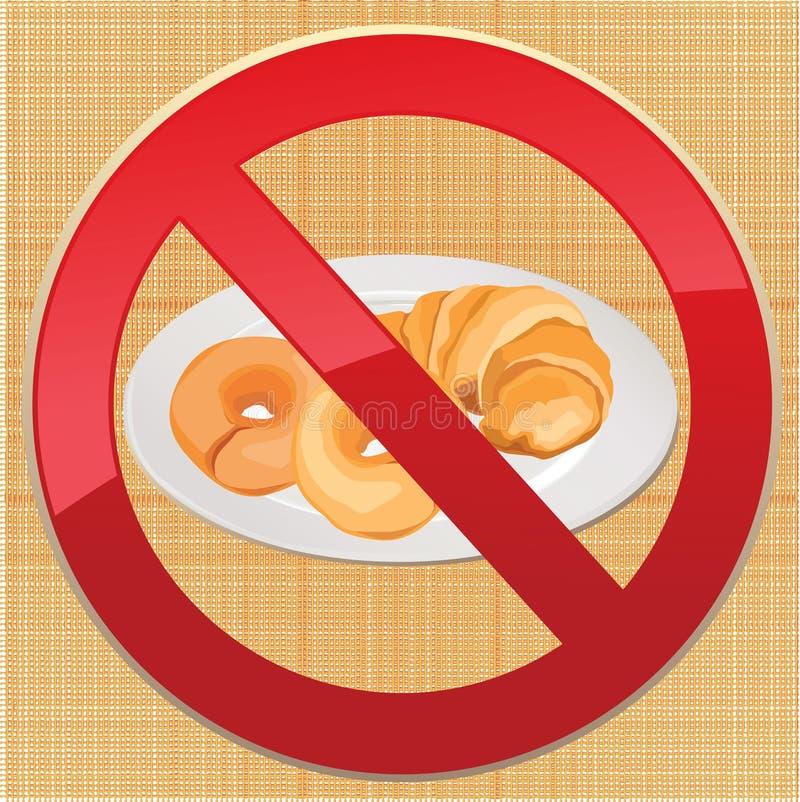 Aucun pain - illustration gratuite d'icône de gluten illustration stock