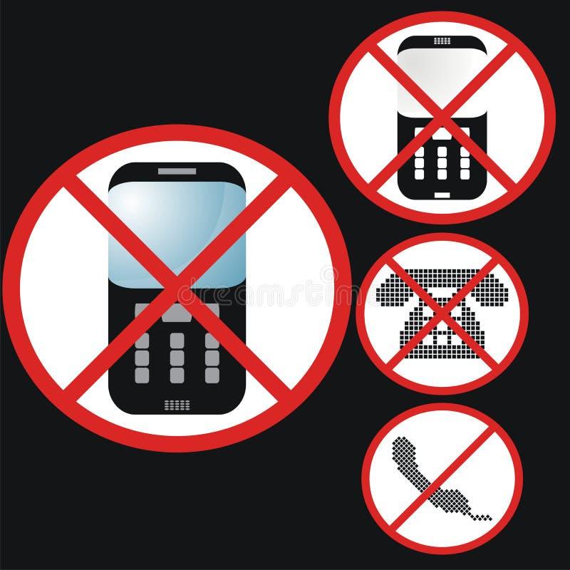 Aucun positionnement de téléphones illustration libre de droits