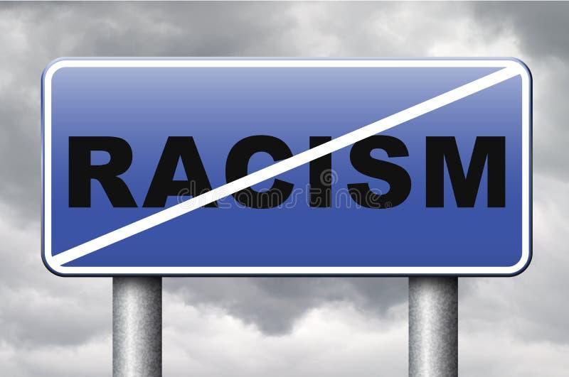 Aucun racisme illustration stock