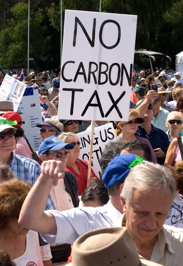 Aucun rassemblement d'impôts de carbone images libres de droits