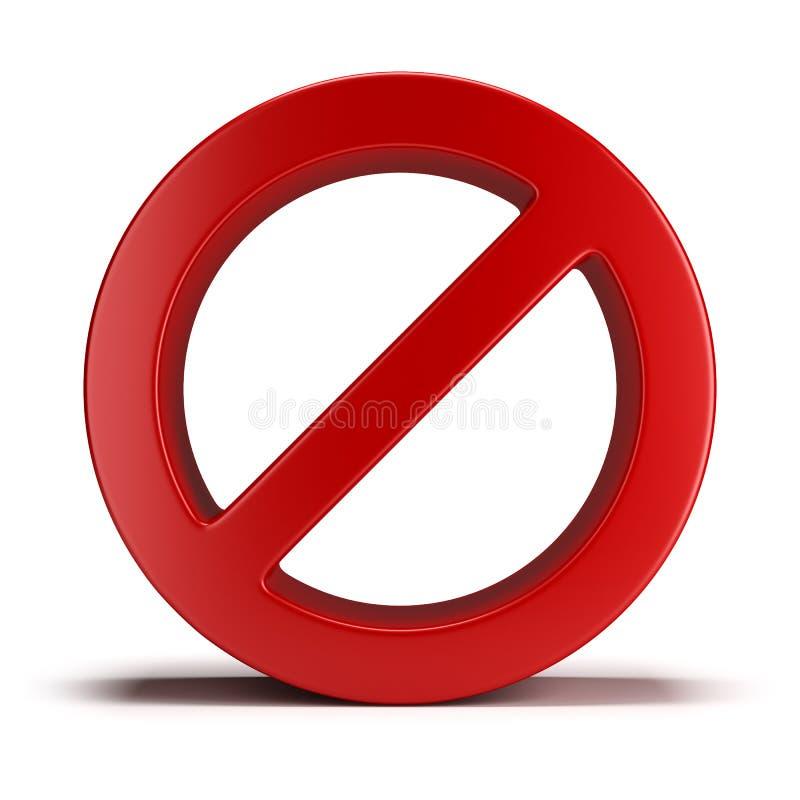 Aucun signe illustration libre de droits