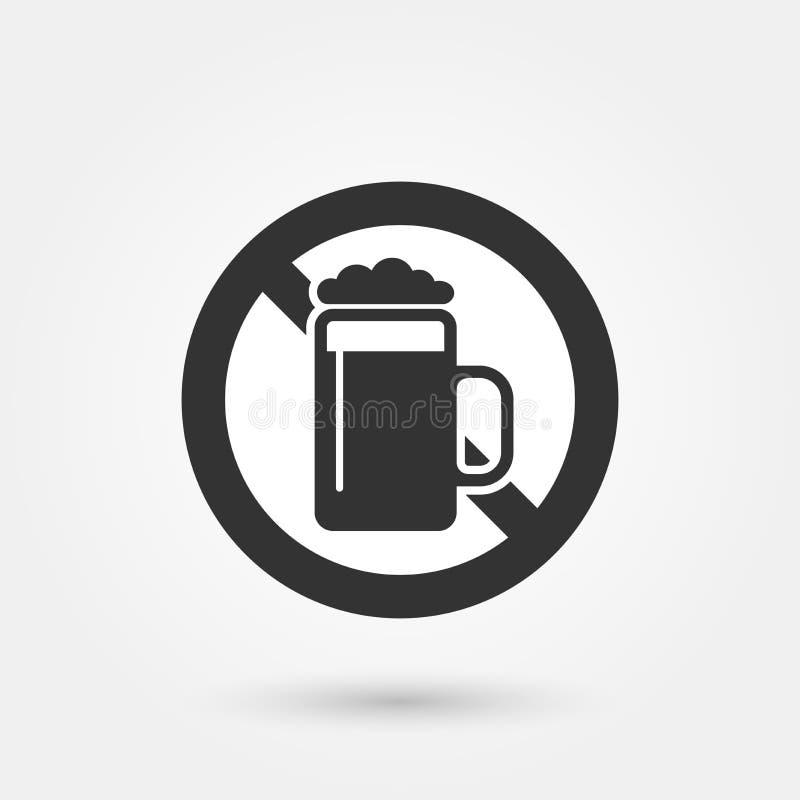 Aucun signe 2 d'alcool illustration de vecteur