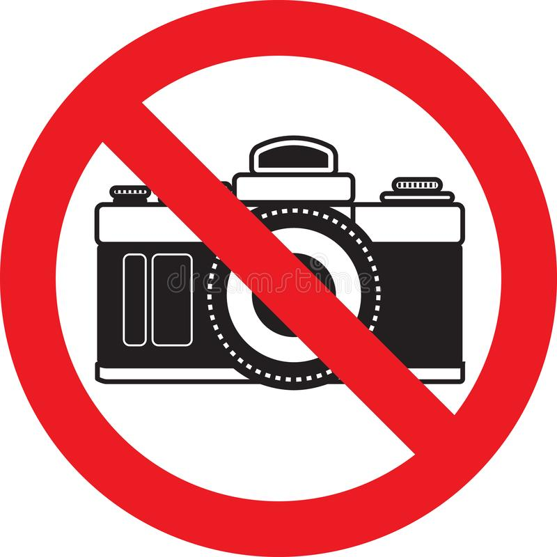 Aucun signe d'appareil-photo de photo illustration libre de droits