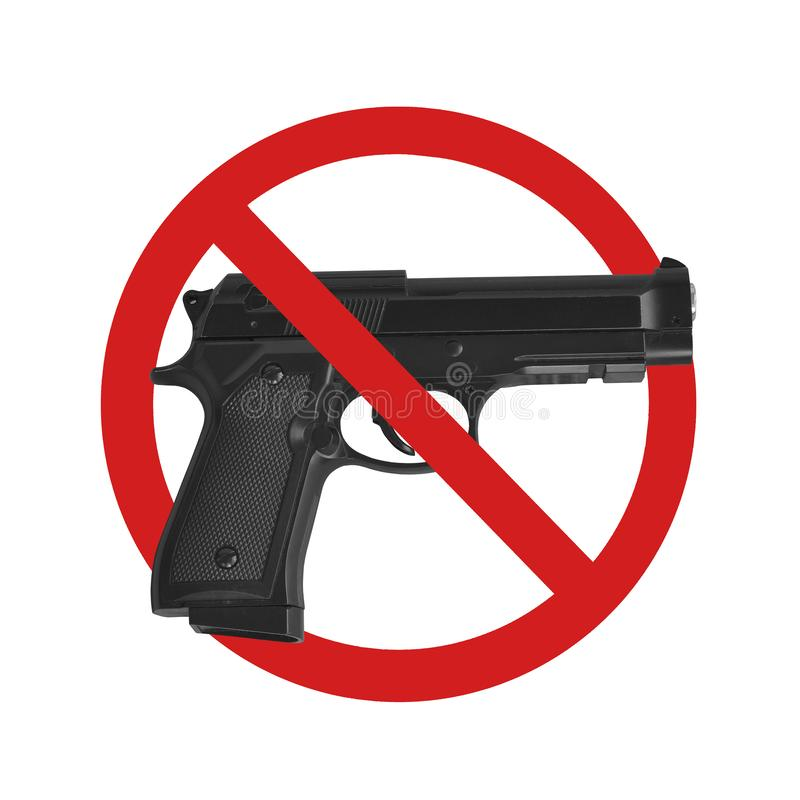 Aucun signe d'arme ? feu image libre de droits