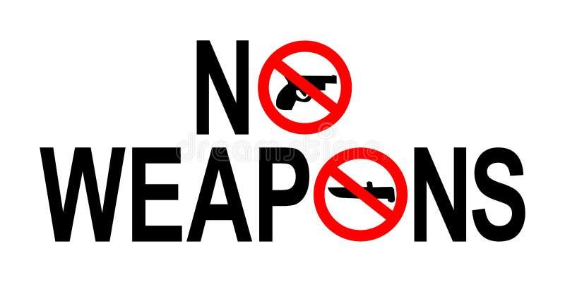 Aucun signe d'armes illustration de vecteur