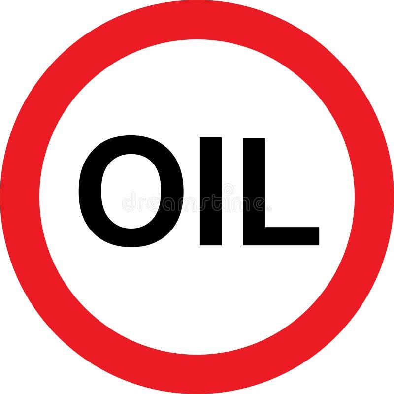 Aucun signe d'huile illustration stock