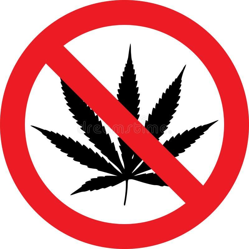 Aucun signe de cannabis illustration de vecteur
