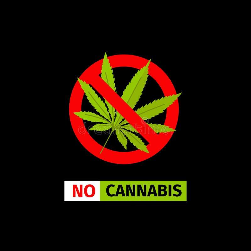 Aucun signe de cannabis illustration stock