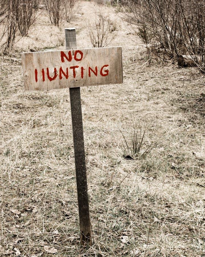 Aucun signe de chasse photographie stock