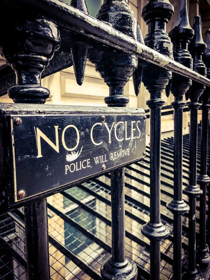 Aucun signe de cycles photos stock