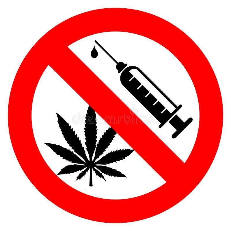 Aucun signe de drogues illustration stock