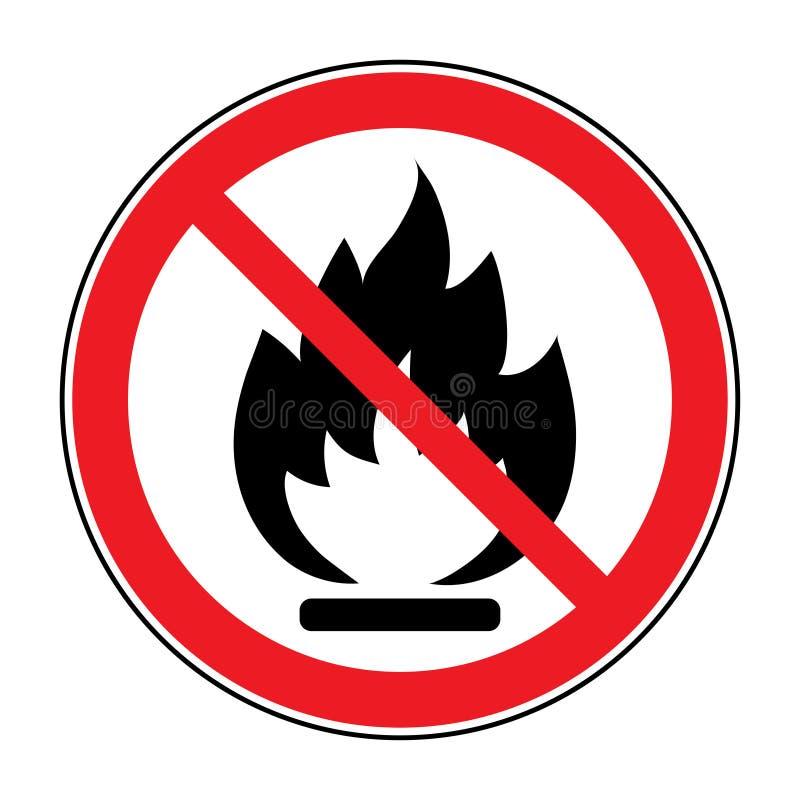 Aucun signe de flamme nue du feu illustration libre de droits