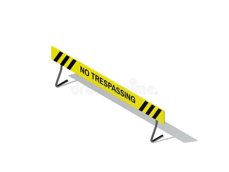 Aucun signe de infraction D'isolement sur le fond blanc rendu 3d illustration de vecteur