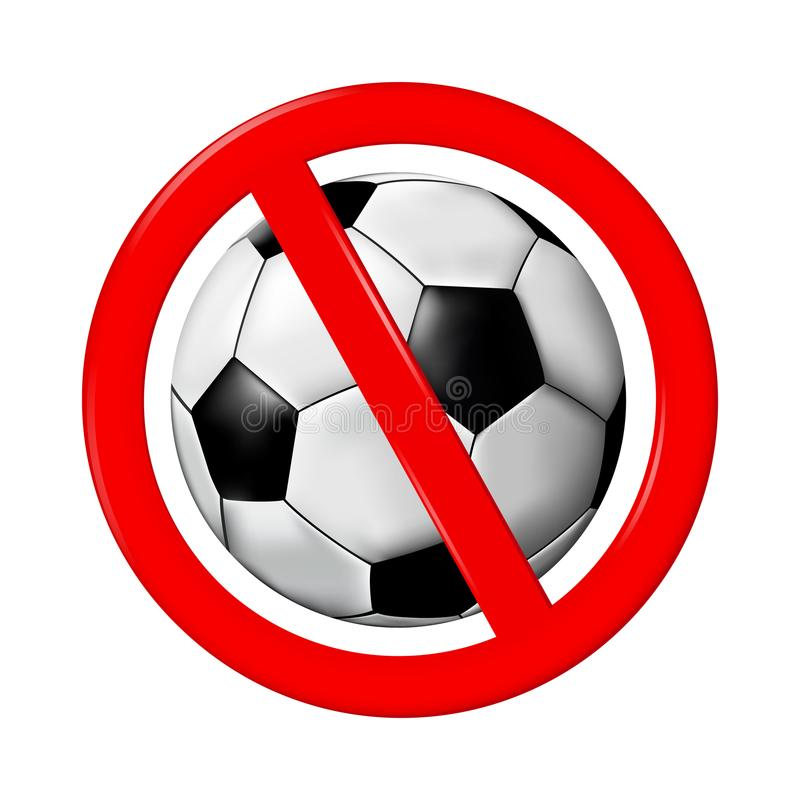 Aucun signe de jeu ou de football, illustration de vecteur illustration de vecteur
