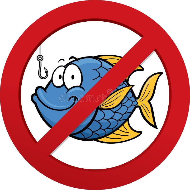 Aucun signe de pêche illustration de vecteur
