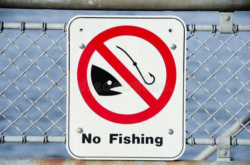Aucun signe de pêche photographie stock libre de droits