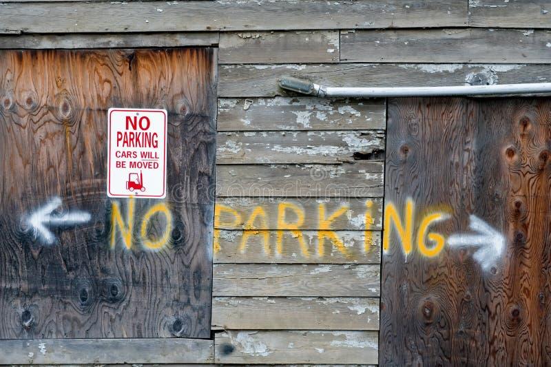 Aucun signe de stationnement images stock