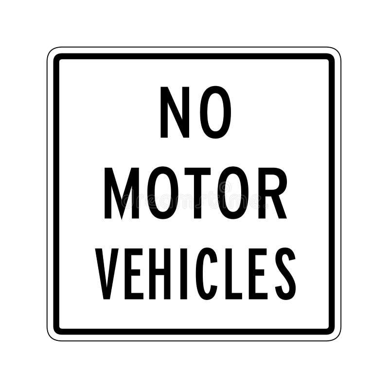 Aucun signe de véhicules à moteur illustration stock