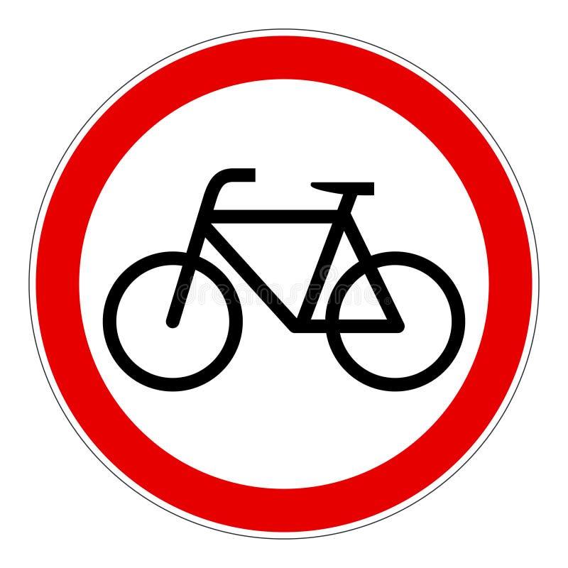 Aucun signe de vecteur interdit par vélos de bicyclettes illustration stock