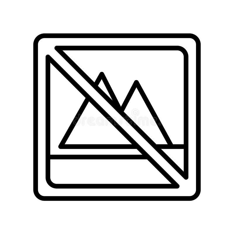 Aucun signe et symbole de vecteur d'icône de blanchiment d'isolement sur le backg blanc illustration libre de droits