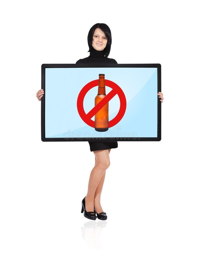 Aucun symbole d'alcool image libre de droits