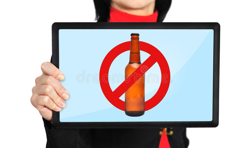 Aucun symbole d'alcool photos stock