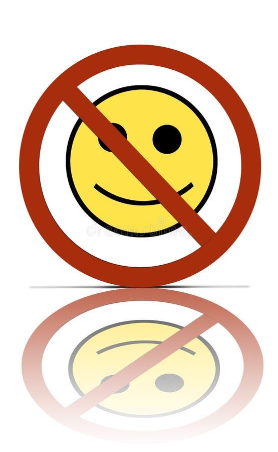 Aucun symbole heureux de gens illustration libre de droits